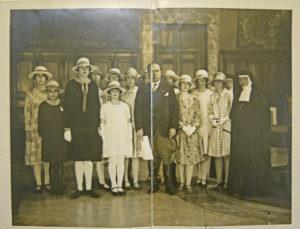 Finchley schoolgirls meet Mussolini